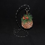 burton + Burton Round Pine Cone Christmas Ornament
