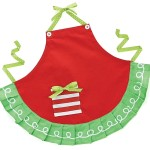 Hand Painted Childs Red & Green Christmas Apron by burton + Burton