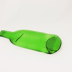 Repurposed Green Glass Bottle Tray