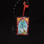"burton + Burton Metal Stained Glass Look ""Joy to the World"" Christmas Ornament"
