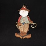 burton + Burton Stuffed Santa Cowboy Ornament