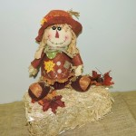 Stuffed Scarecrow With Sunflower Hat