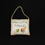 Welcome Friends Pillow Door Hanger
