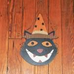 Wood Halloween Cat