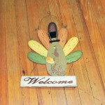 Wood & Metal Turkey Welcome Sign