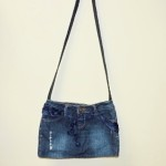 Hand Made Denim Pants Crossbody Bag