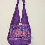 Indian Tribal Purple BoHo Bag With Elephant