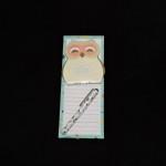 Lady Jayne List Pad With Sticky Owl Pad & Pen