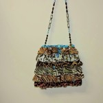 Mary Frances Animal Print Beaded Purse