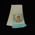 Artistic Accents Embroidered Easter Bunny & Basket Kitchen Towel