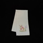 Casaba Embroidered Easter Bunny Kitchen Towel