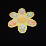 Hand Made & Painted Flower Shaped Egg Tray