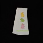 Well Dressed Home Embroidered Felt Easter Bunny Kitchen Towel