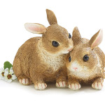 burton + Burton Hand Painted Brown Resin Bunnies