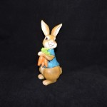 burton + Burton Hand Painted Resin Brown Boy Easter Bunny Figurine