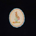 burton + Burton Oval Ceramic Boy Bunny Dessert Plate