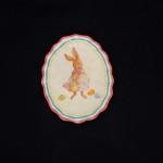 burton + Burton Oval Ceramic Girl Bunny Dessert Plate