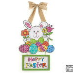 "burton + Burton Wood ""Happy Easter"" Wall Hanging"